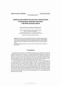Pdf  Analysis And Synthesis Of Converter Control System