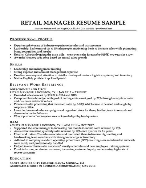 pin by cyndee armstrong on res manager resume retail
