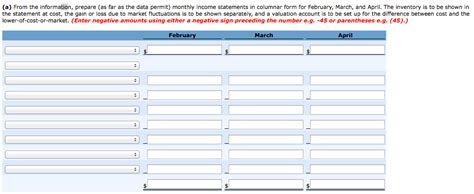 monthly income statement template excel excelxocom