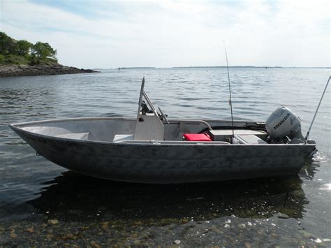 Small Metal Fishing Boats For Sale by Welded Aluminum Boat 16 Workskiff Hd Aluminum Boat
