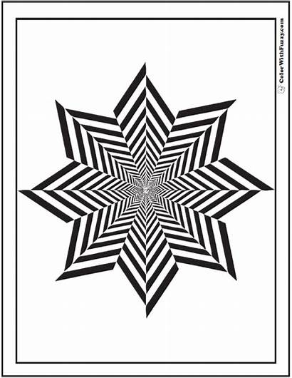Geometric Coloring Shapes Printable Sheet Drawing Point