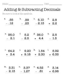 6 digits addition with decimals this worksheets can be used to practice the basic