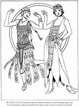 Coloring 1920s Roaring Dover Twenties Fashions Welcome Adult Deco Publications Sheets Colouring Flapper 20s Printable Doverpublications 1920 Ladies Adults Embroidery sketch template