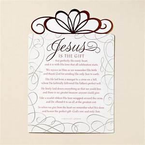 jesus is the gift christmas card poem love With christian christmas letter