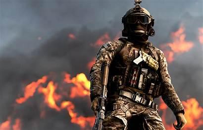 Battlefield Assault Sky Soldiers Fire Attack Clouds