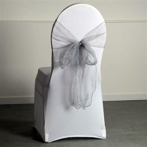 location noeud de chaise location noeud organza coloris argent pour housse de chaise
