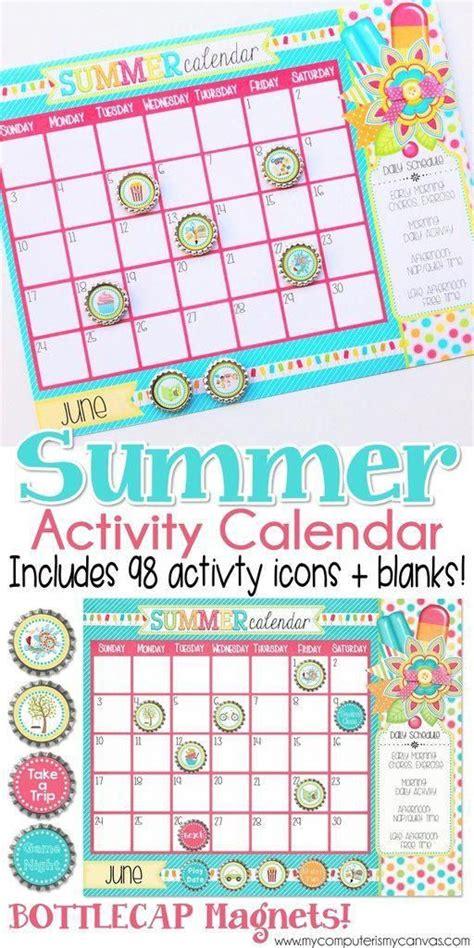 PRINTABLE Summer Activity Calendar Summer Planner Summer
