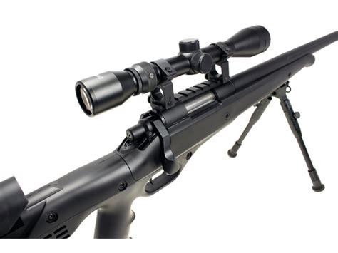 Well Mb12 Heavy Weight Airsoft Sniper Rifle With Scope And