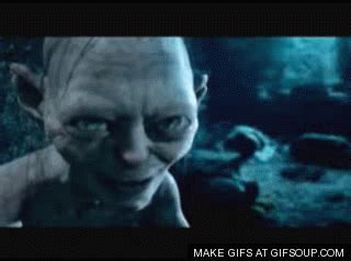 gollum gif find share  giphy