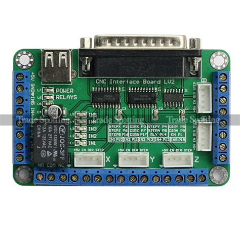 5 axis cnc breakout board for stepper motor driver mach3