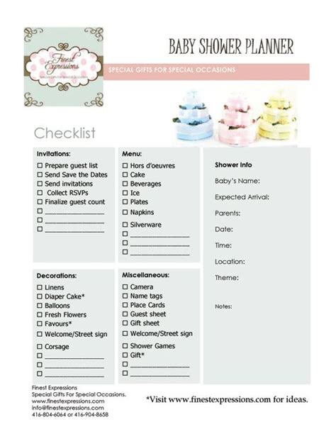 baby shower planner template baby shower planning baby shower planner checklist baby shower ideas babies