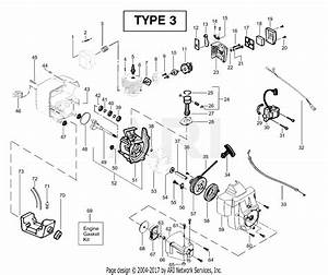 Poulan Bc2400 Gas Trimmer Type 3 Parts Diagram For Engine