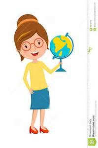 Cartoon Happy School Teacher