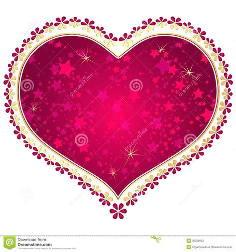 red  gold vintage valentine frame stock  image