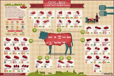 infographic  beef cuts  cost  cooking method