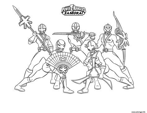 Coloré Gratuit by Coloriage Samurai Power Rangers Equipe Dessin