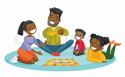 Clipart Playing Board African Parent Activity Vector