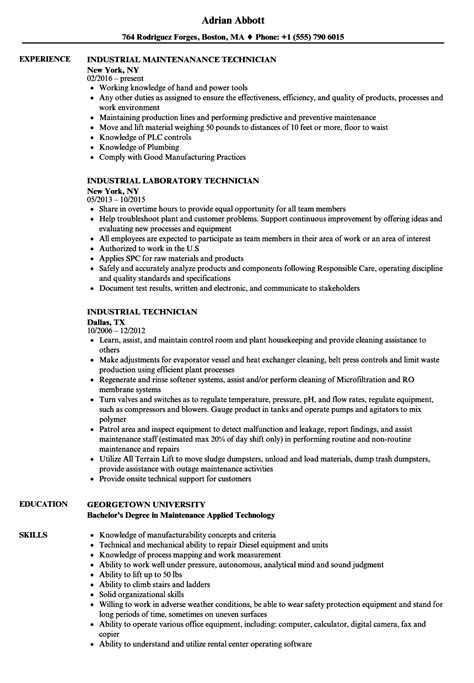 industrial mechanic resume vvengelbertnl
