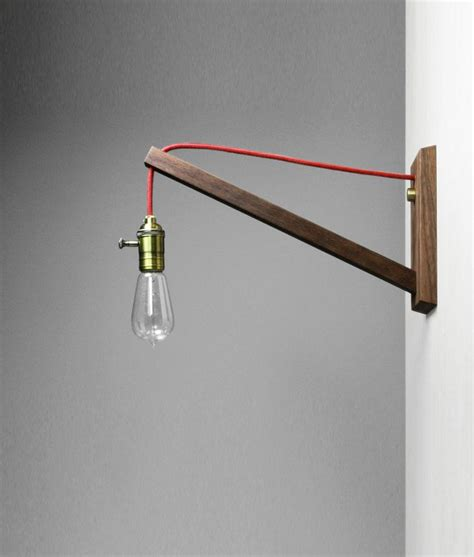 simple wall l solution decorative bulb red cord