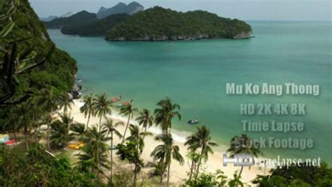 Mu Ko Ang Thong, Thailand - HD 2K 4K Video Time Lapse ...