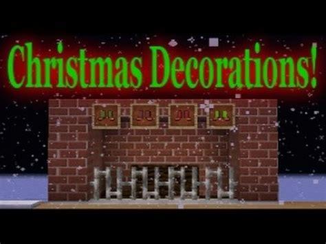 minecraft vanilla christmas decorations youtube