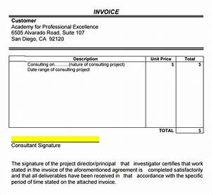 Consulting invoice template 7 free download for word pdf for Invoice for consulting services