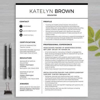 teacher resume template  ms word educator resume