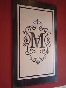 31 days of building character in your home some amazing With best brand of paint for kitchen cabinets with custom monogram wall art