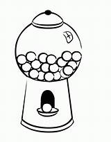 Gumball Gum Machine Bubble Coloring Clipart Drawing Pages Clip Empty Cliparts Bubblegum George Curious Sheets Machines Library Coloriage Colouring Getdrawings sketch template