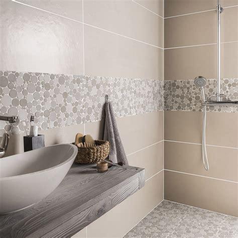 mosaique murale cuisine salle de bain marron collection et carrelage beige salle