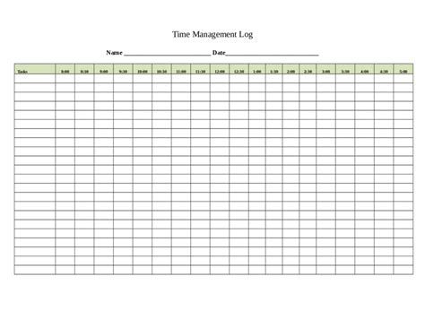 time management template 2018 time management fillable printable pdf forms handypdf