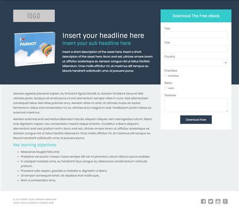 Landing Page Templates 3 Free Pardot Landing Page Templates For Asset Downloads