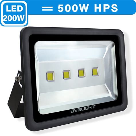 byb 200 watt bright outdoor led flood light 500w