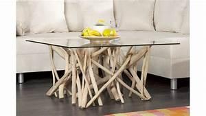 Table Basse En Bois Flotté : cette table basse en bois flott apporte un meuble original votre int rieur la nature revient ~ Preciouscoupons.com Idées de Décoration