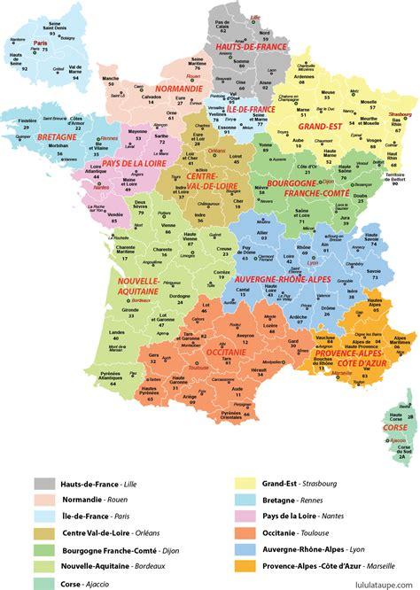 Carte De à Imprimer by Carte Des 13 R 233 Gions De 224 Imprimer D 233 Partements