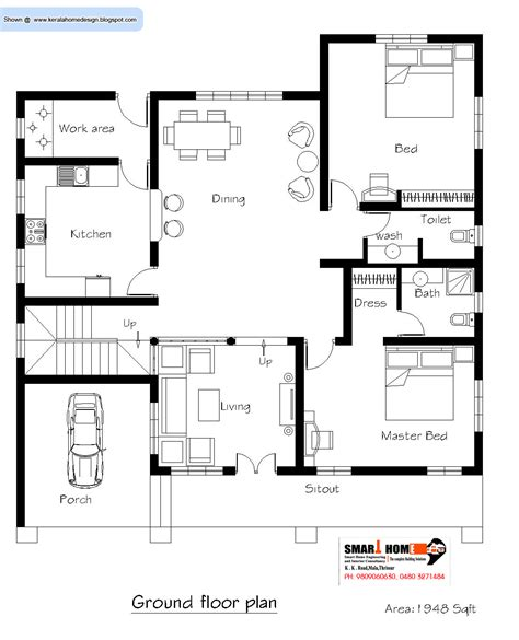 kerala home plan  elevation  sq ft kerala