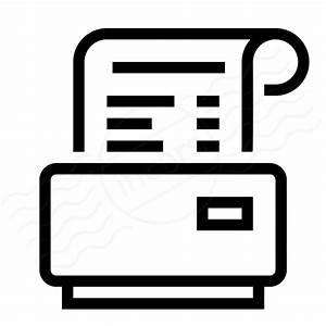 IconExperience » I-Collection » Receipt Printer Icon