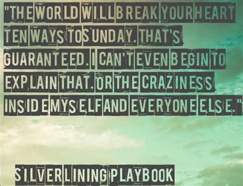 Silver Quote Ending Quote From Silver Lining Playbook Excelsior