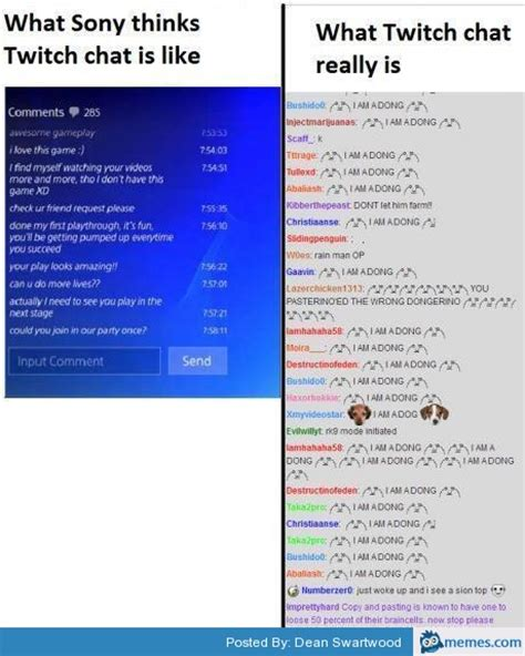 Twitch Chat Memes - what twitch chat is like memes com