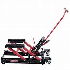 Craftsman motorcycle atv jack shop your way online for How to jack up a motorcycle with a floor jack