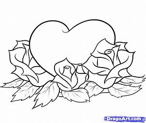 How to Draw Hearts and Roses, Step by Step, Tattoos, Pop ...