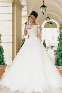 robe de mariee trapeze princesse ras du sol bardot With soldes robes de mariée
