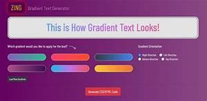 Zing Gradient Text Generator Online Tool