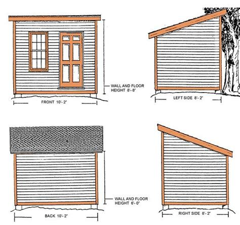 8 X 10 Slant Roof Shed Plans by 8 215 10 Lean To Shed Plans Blueprints For A Durable Slant