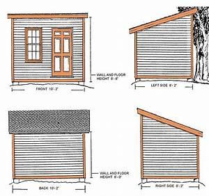 8 U00d710 Lean To Shed Plans  U0026 Blueprints For A Durable Slant