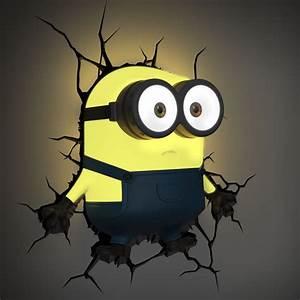 Minions 3D Wall Light (Bob) - Fun LED Light - Yellow ...