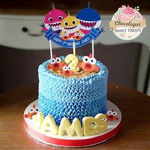 Baby Shark Buttercream Cake for James – Chocolique