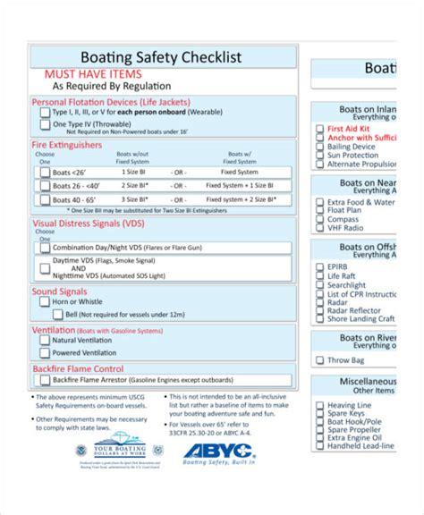 printable checklist examples