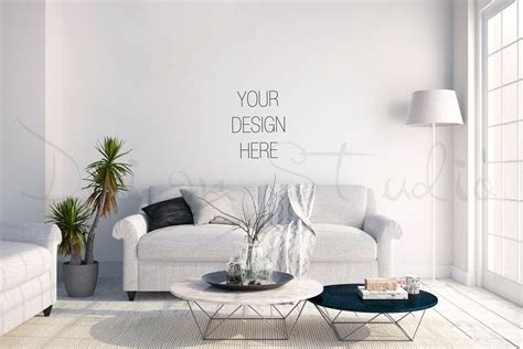 Here we present you a stunning living room wall poster free psd mockup template for your next project. interior stock Photography, living room blank Wall Photography, Scandinavian interior , Poster ...