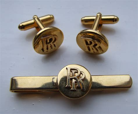 Rolls Royce Cufflinks by Antique And Vintage Costume Jewellery 1980s Mens Jewellery